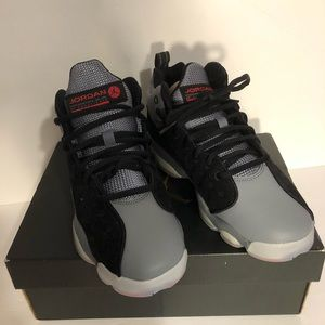 New Jordan Air 4 Retro BG Black Gray Kid Size 5.5